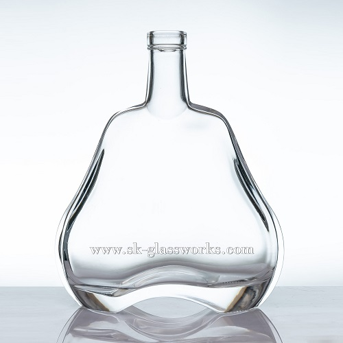 Cork Top 750ml Glass Cognac Bottle