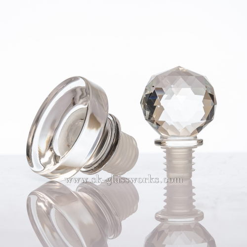 Crystal Glass Cap T-cork Bottle Stopper Suitable For Bartop/Cork Top